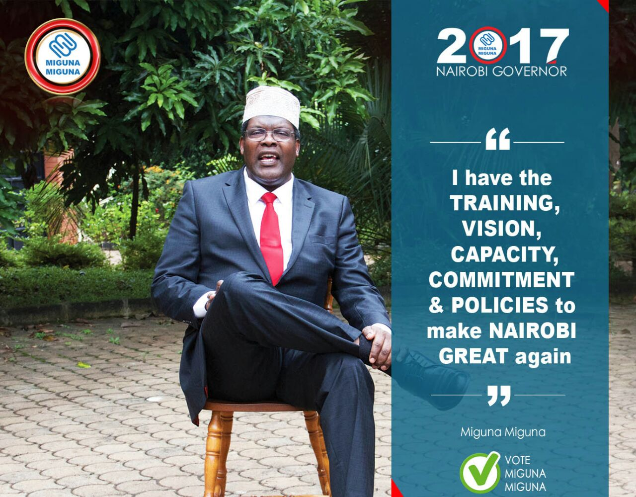 The Candidate has the vision, training, capacity.
