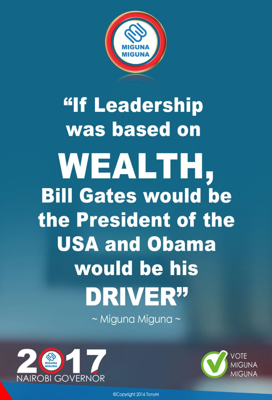 If leadership was based on wealth...
