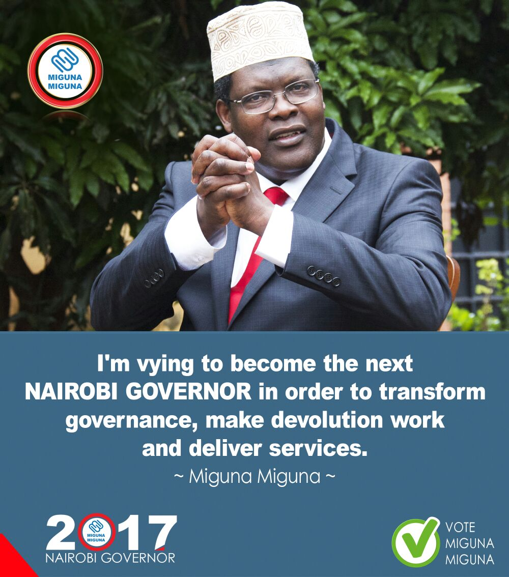 The Candidate is vying to become the next Governor.