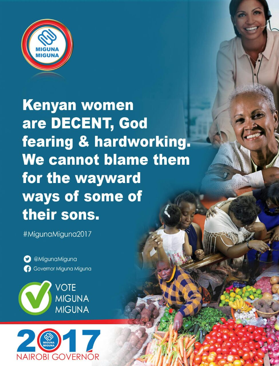 Kenyan women are decent, we cannot blame them.