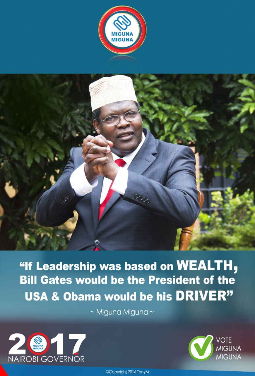Leadership is not about wealth.