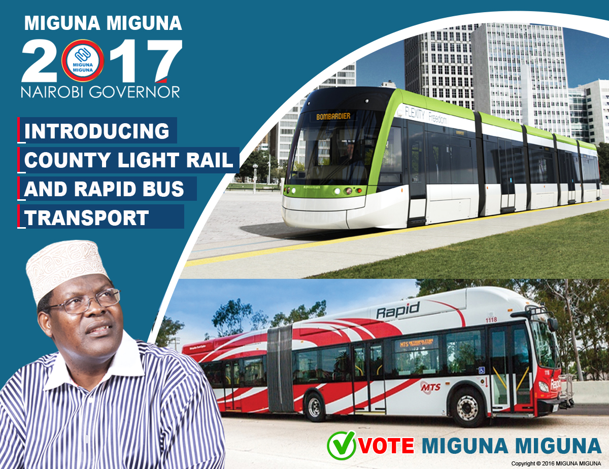 Introducing county light rail and rapid bus transport.