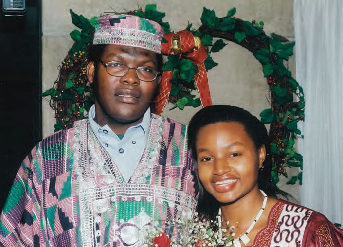 The Candidate and his wife, Jane, on their wedding day at the Nathan Philip Square, Toronto, 18 December 2000.