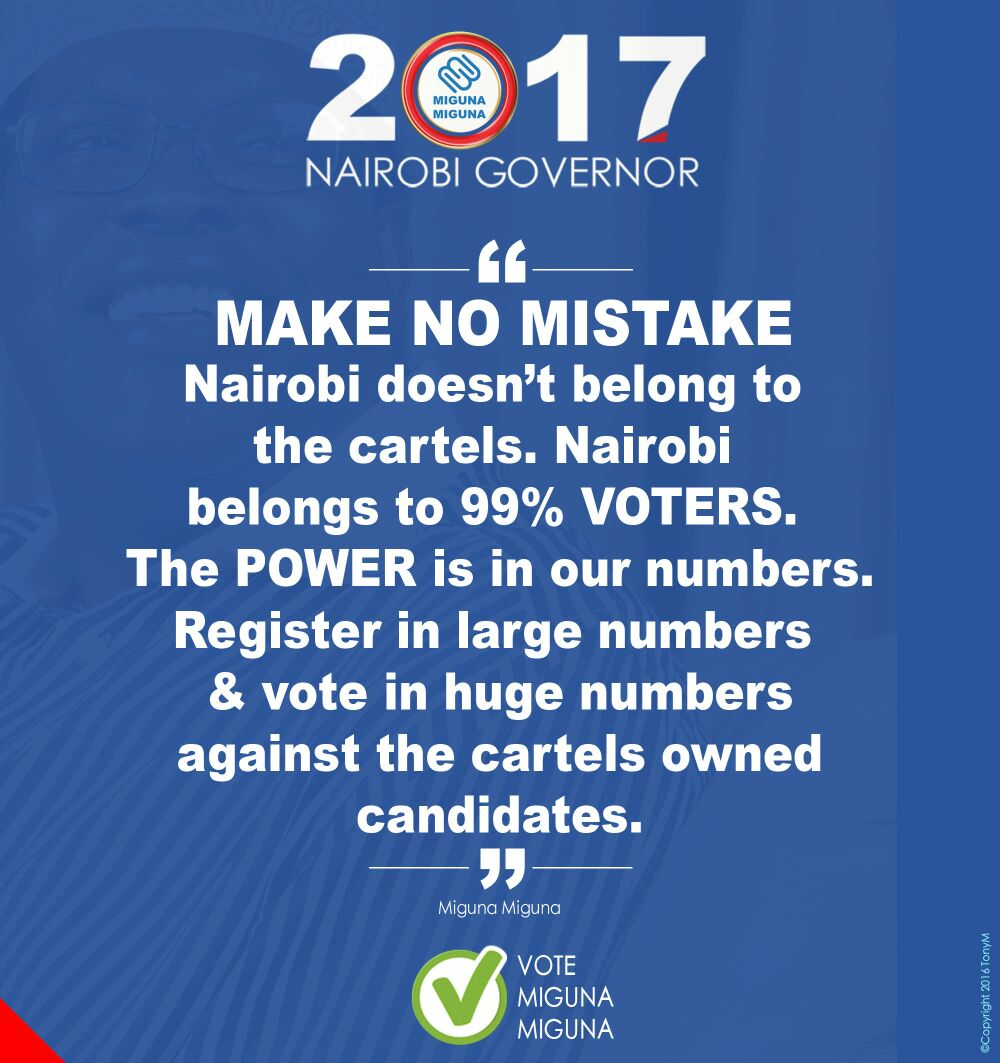 Nairobi doesn't belong to the cartels.