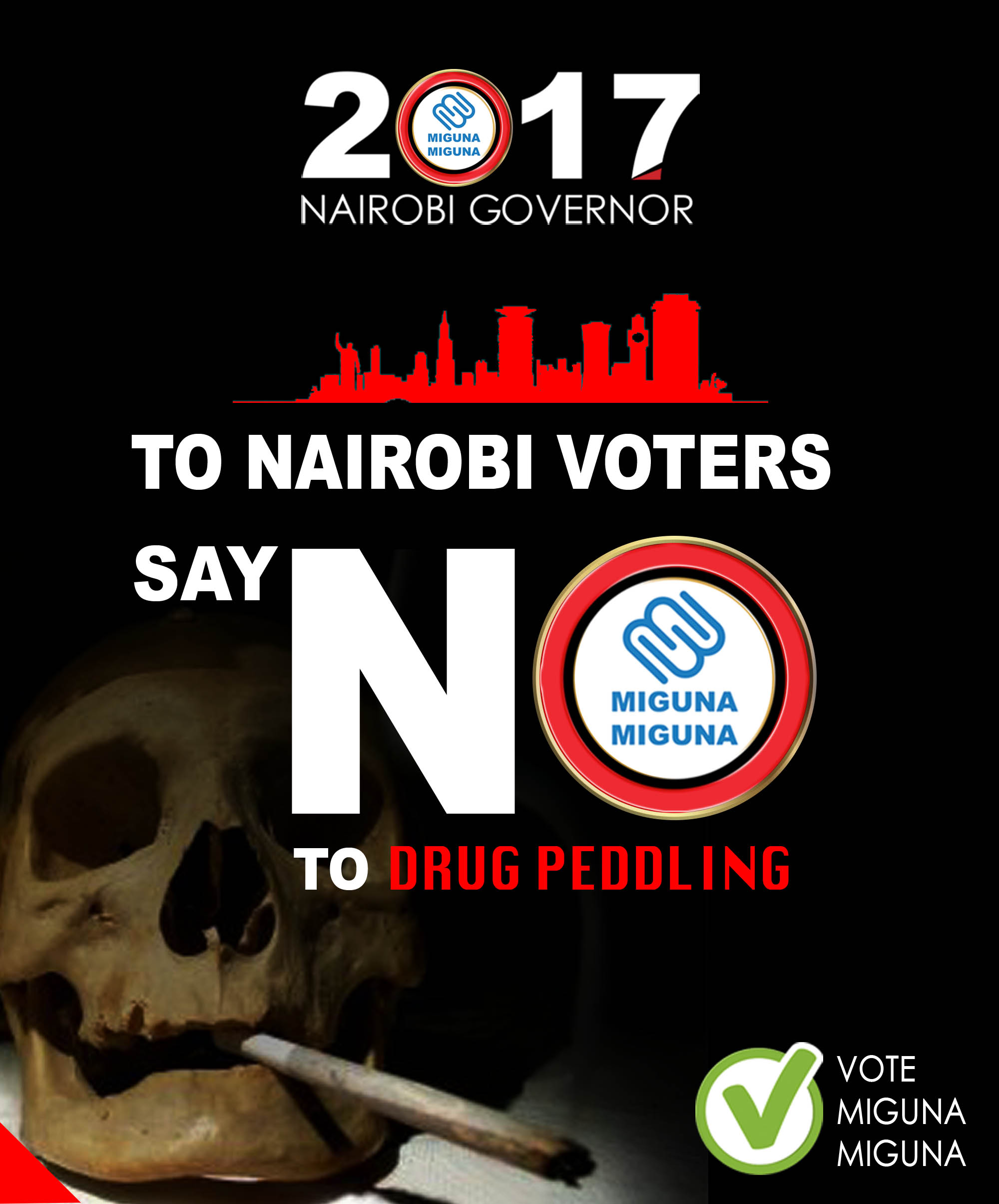 Say NO to drug peddling.