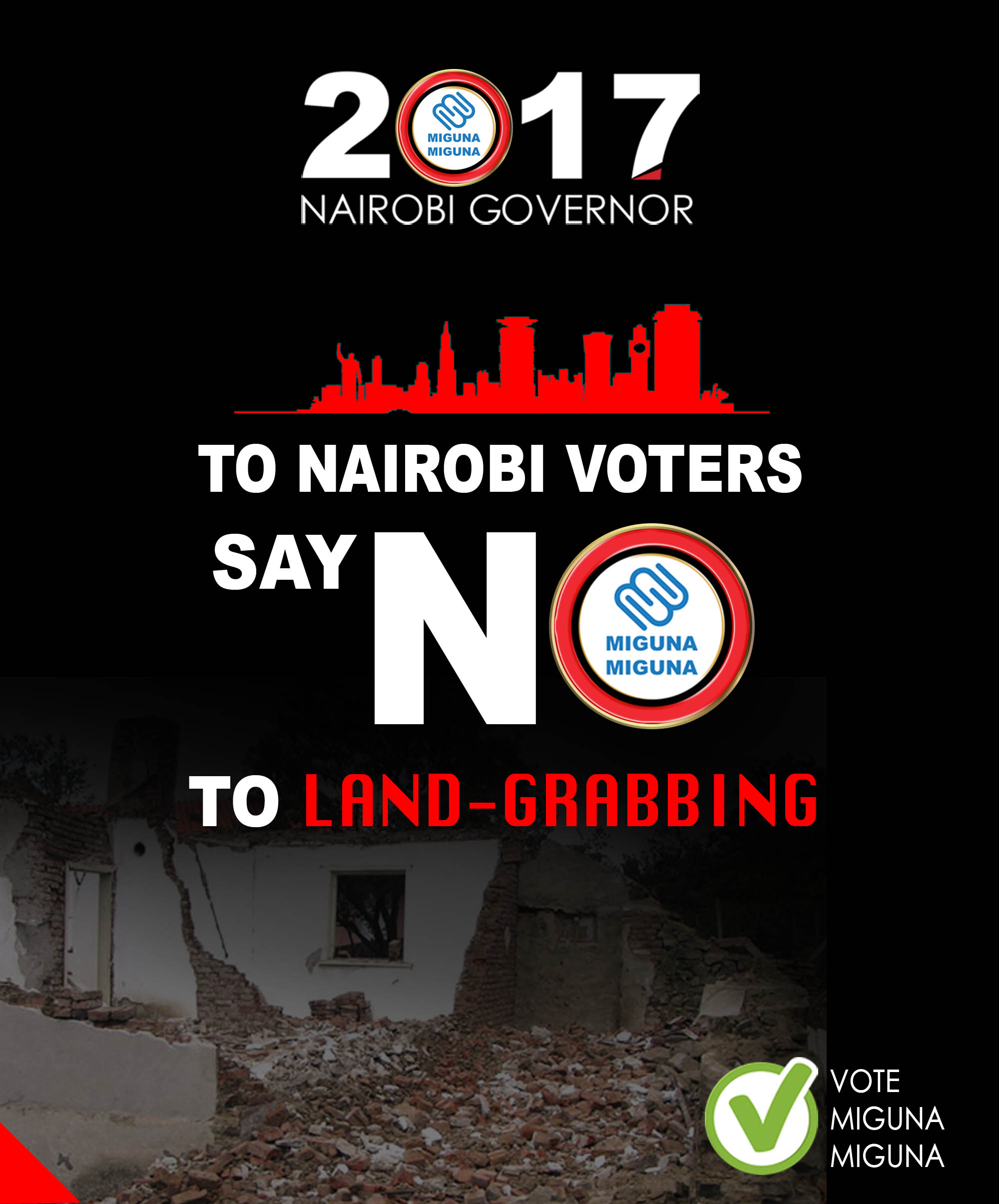 Say NO to land grabbing.