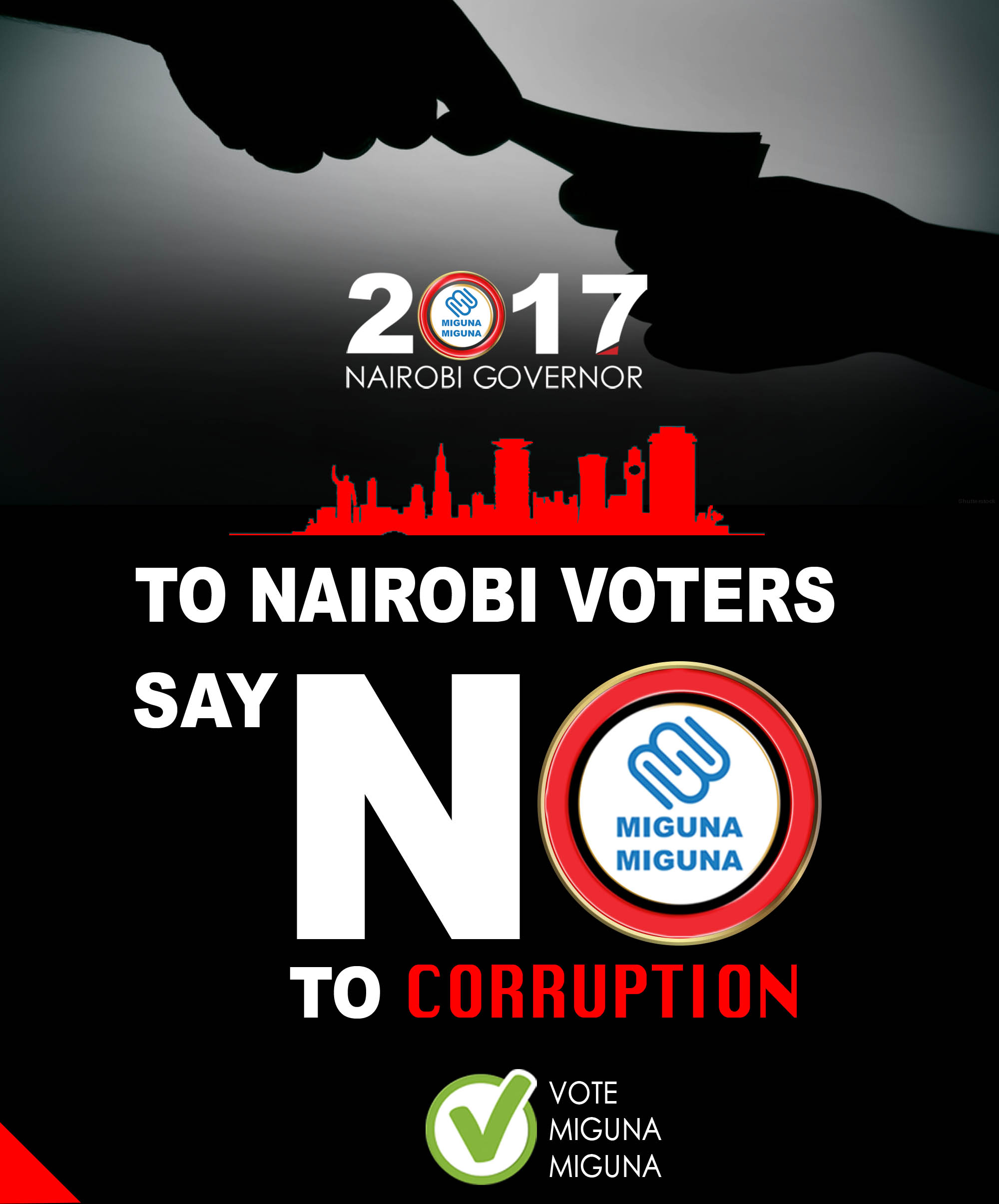 Say NO to corruption.