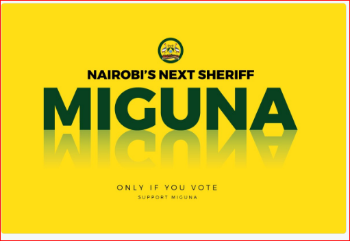 The next sheriff is Miguna.